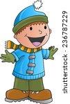 holiday winter boy vector... | Shutterstock .eps vector #236787229