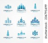 real estate logo set. vector... | Shutterstock .eps vector #236791699