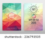 colorful merry christmas flyer. ... | Shutterstock .eps vector #236793535