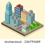 isometric building office area. ... | Shutterstock .eps vector #236795689