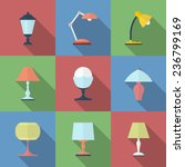 icon set of lamps. modern flat... | Shutterstock .eps vector #236799169
