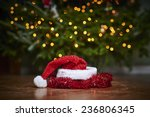 a santa hat in front of a... | Shutterstock . vector #236806345
