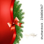 christmas tree branches with a... | Shutterstock .eps vector #236806567