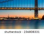 New York Skyline At Sunset...