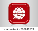 globe web icon. vector design | Shutterstock .eps vector #236812291