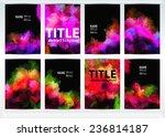set of templates brochure.... | Shutterstock .eps vector #236814187