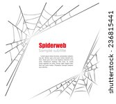 spider web vector illustration... | Shutterstock .eps vector #236815441