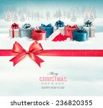 holiday christmas background... | Shutterstock .eps vector #236820355