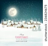 winter village night background.... | Shutterstock .eps vector #236824675