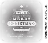 christmas greeting card light... | Shutterstock .eps vector #236842231