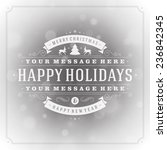 christmas greeting card light... | Shutterstock .eps vector #236842345