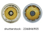 Small photo of inner circle tractor wheel isolated