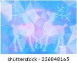 triangles reindeer | Shutterstock .eps vector #236848165