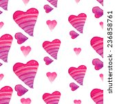 romantic watercolor hand drawn... | Shutterstock .eps vector #236858761