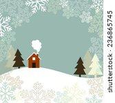 winter landscape   winter... | Shutterstock .eps vector #236865745