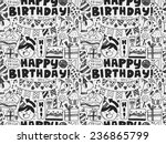seamless doodle birthday party