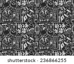 seamless doodle chinese new... | Shutterstock .eps vector #236866255
