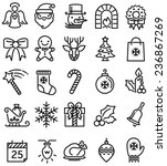 christmas ios flat style icons | Shutterstock .eps vector #236867269