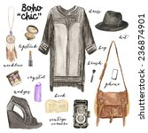 fashionable outfit illustration.... | Shutterstock . vector #236874901