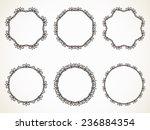 ornamental calligraphic round... | Shutterstock .eps vector #236884354