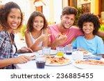 portrait of family eating meal...   Shutterstock . vector #236885455