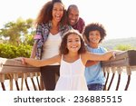 portrait of family on... | Shutterstock . vector #236885515