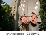 arrested man in a business suit ... | Shutterstock . vector #2368942