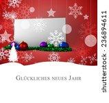 christmas greeting in german... | Shutterstock . vector #236894611