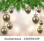 christmas illustration with fir ... | Shutterstock .eps vector #236904139