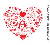 love icons objects in heart... | Shutterstock .eps vector #236909917