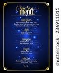 new year menu list  dark blue... | Shutterstock .eps vector #236911015