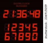 vector red digital clock... | Shutterstock .eps vector #236915059