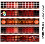 web banners  under construction ... | Shutterstock .eps vector #23692060