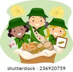 illustration of girl scouts... | Shutterstock .eps vector #236920759