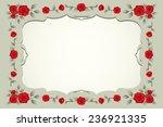 roses vintage square shaped... | Shutterstock .eps vector #236921335