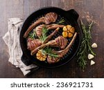 roasted lamb ribs with rosemary ...   Shutterstock . vector #236921731