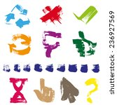 figures different shapes and... | Shutterstock .eps vector #236927569