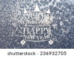 merry christmas and new year... | Shutterstock . vector #236932705