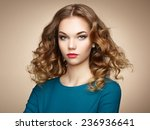 fashion portrait of elegant... | Shutterstock . vector #236936641