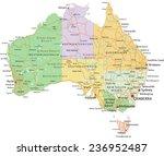 australia   highly detailed... | Shutterstock .eps vector #236952487