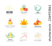 set of logos for yoga studio or ... | Shutterstock .eps vector #236953861
