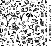hand drawn seamless pattern... | Shutterstock .eps vector #236968045