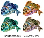 four design of colorful fish | Shutterstock . vector #236969491