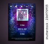 disco background. disco poster | Shutterstock .eps vector #236970955