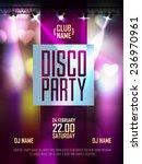 disco background. disco poster | Shutterstock .eps vector #236970961