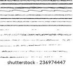 set of vector scribble strokes .... | Shutterstock .eps vector #236974447