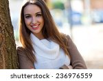 outdoor portrait of beautiful... | Shutterstock . vector #236976559