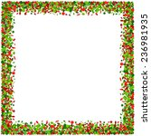 confetti frame in red and green | Shutterstock .eps vector #236981935