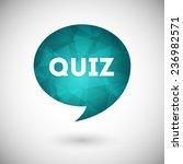 quiz vector icon | Shutterstock .eps vector #236982571