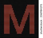 led display red scoreboard dot...   Shutterstock . vector #236984191